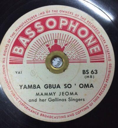 Label Bassaphone BS 63 Yamba Gbua So' Oma, Mammy Jeoma