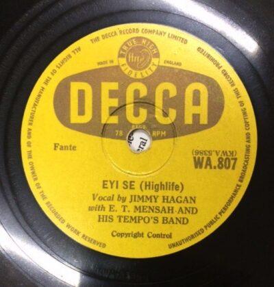 Label Decca WA 807 Eyi Se E.T Mensha