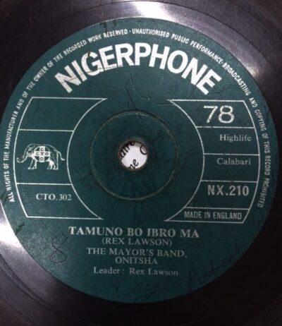 Label Nigerphone NX 210 Tamuna Bo Ibro Ma, The Mayors's Band