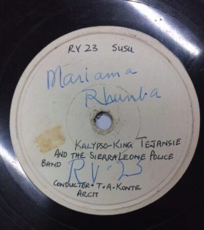 Shellac record Mariama Rhumba by Tejansie