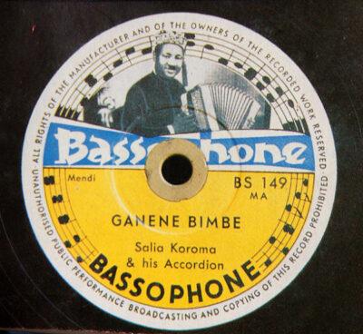 Label Bassophone BS 149 Salia Koroma his Accordion